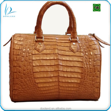 Luxury quality real reptile skin womens genuine crocodile leather handbag
