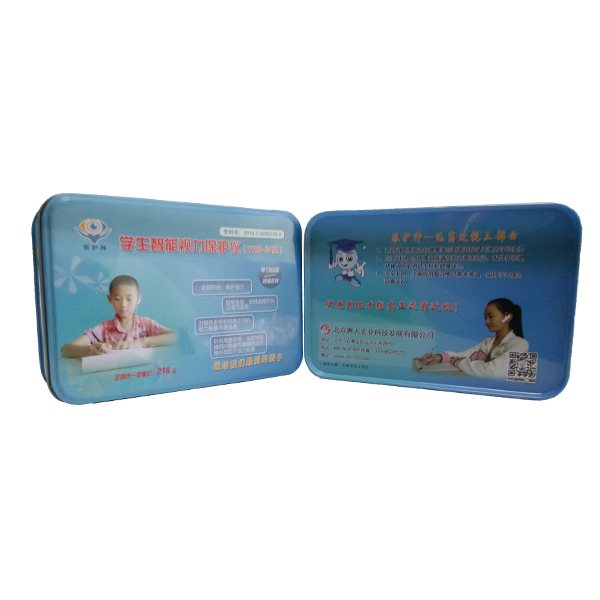 Customized printed eye protect gift box metal tin box in malaysia