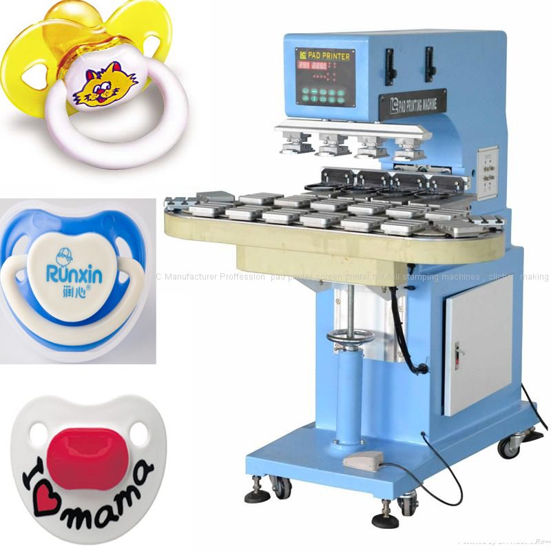 4 color electric pad printing machine with Tungsten steel ring for ink cup pad printer to print bottle cap