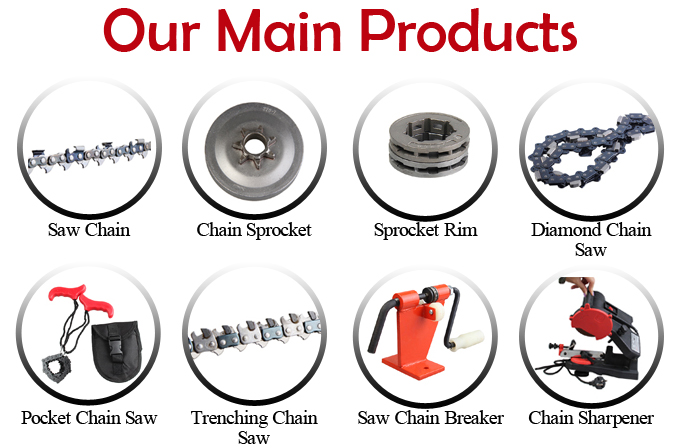 Universal Diamond Chain Saw Power Tool Electric parts for chainsaw, Metal chain saw spare parts