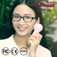skineat AA battery waterproof Sonic Vibration cleaning Silicone electric facial Brush for women