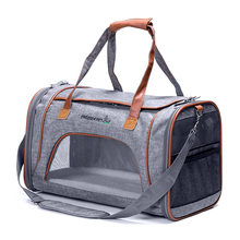 2 tone luxury pet carrier airline approved dog bags