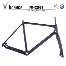 Cyclocross Bike 3k Full Carbon Frame BB30 BSA PF30 Clear Coating Wholesale FM-CX002 Cycle cross cycling frames