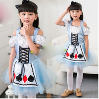Girls Kids Fancy fairy prom Dress Alice In Wonderland Costume Outfit halloween costumes china wholesale