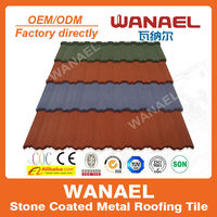 Traditional Wanael stone chips coated metal steel roof tile, roof sheet, improved replacement of ceramic roof tile