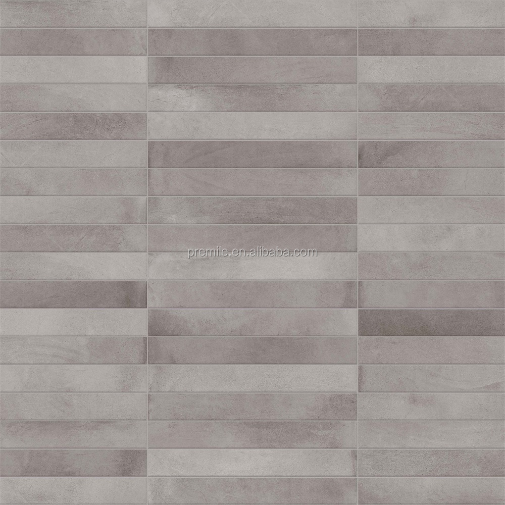 300x600 home decorative grey ceramic wall tile foshan manufacture interior glazed ceramic wall tile