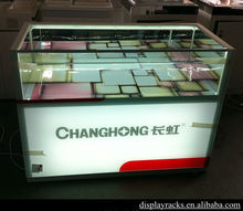 colorful glass retail store mobile phone display showcase