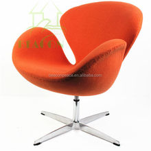 Orange reception cashmere swan chair