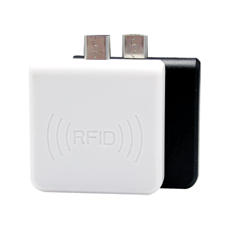 micro usb android rfid reader with white and black 2 colors