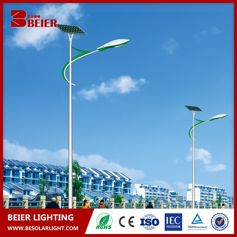 Beier Antique Solar Led Street Lamp With High Quality And Lamp Shade