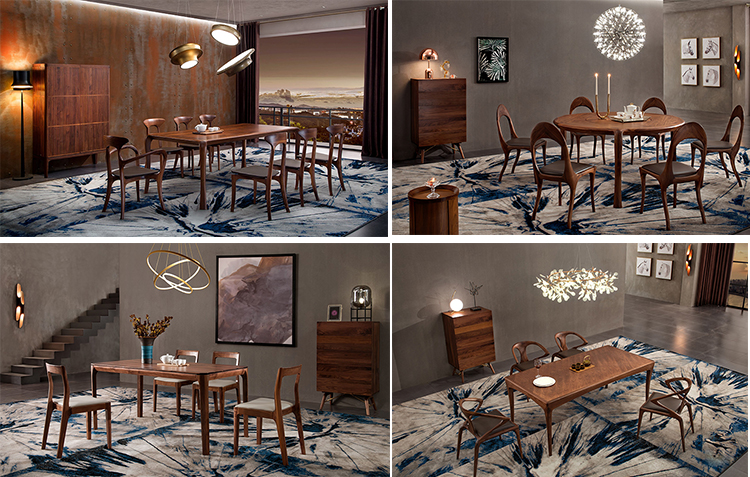 Modern kitchen furniture wood dining table set dining room furniture sets