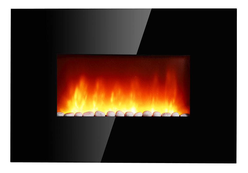 Various decoration pebbles air outlet in the front electric fireplace AC120V/60Hz,1500/750w heat settings