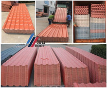Bamboo Flexible Synthetic Resin Roof Tile / 220 Pitch ASA PVC Roof Tile/Plastic Resin Roof Sheet