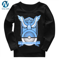 Pokemon Go Baby Kids Boys Girls T Shirts Cartoon Tops Pokemon Long Sleeve Tee Shirt T-Shirts