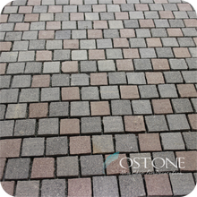 30x30 Mixed Color Cube Curved Paving Stone, Pebble Mesh Back Pavers