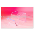 Lucite Side Table Magazine Holder/ sofa table/ End Table