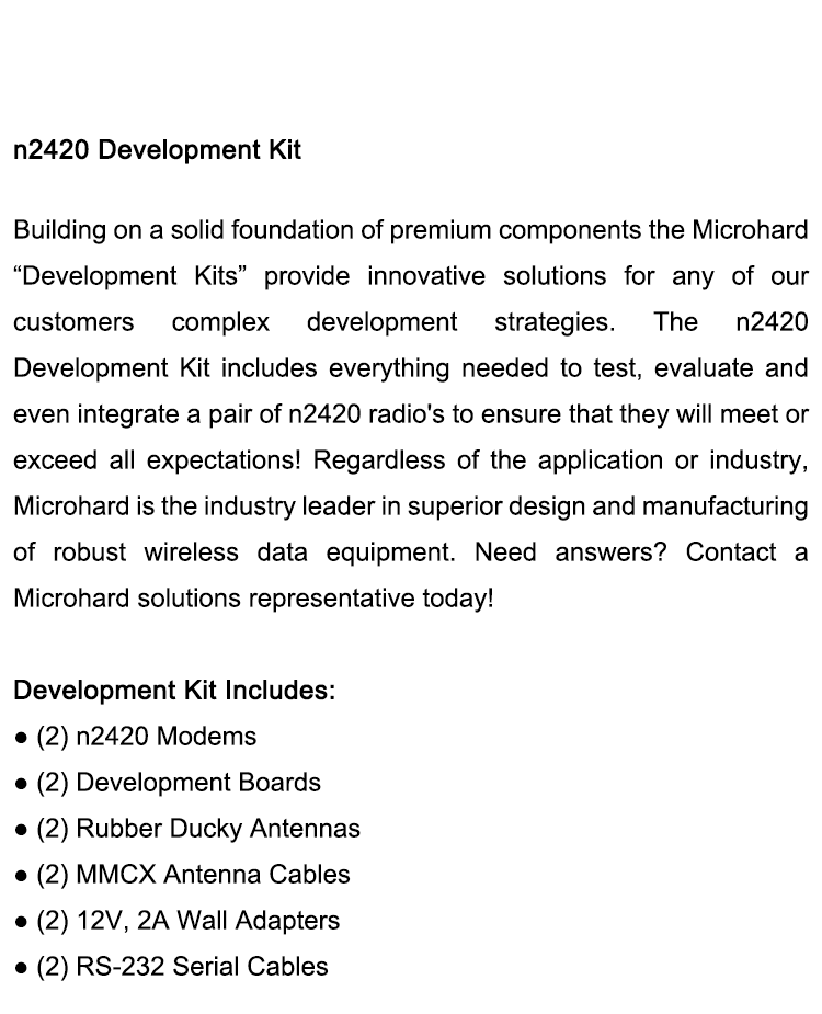 Microhard UAV Radio Modems N2420 Development Kit