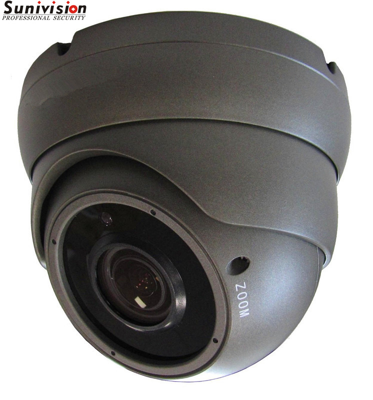 2MP IPC POE NETWORK OUTDOOR GREY CCTV DOME CAMERA 2.8-12mm VARFIOCAL LENS & NIGHTVISION