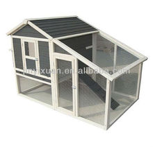 Raised Wooden Chicken House with Run Cage / Poultry Coop Nesting Box Hen House