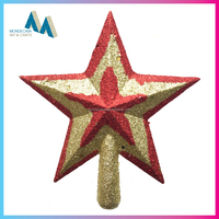 Artificial christmas star tree topper