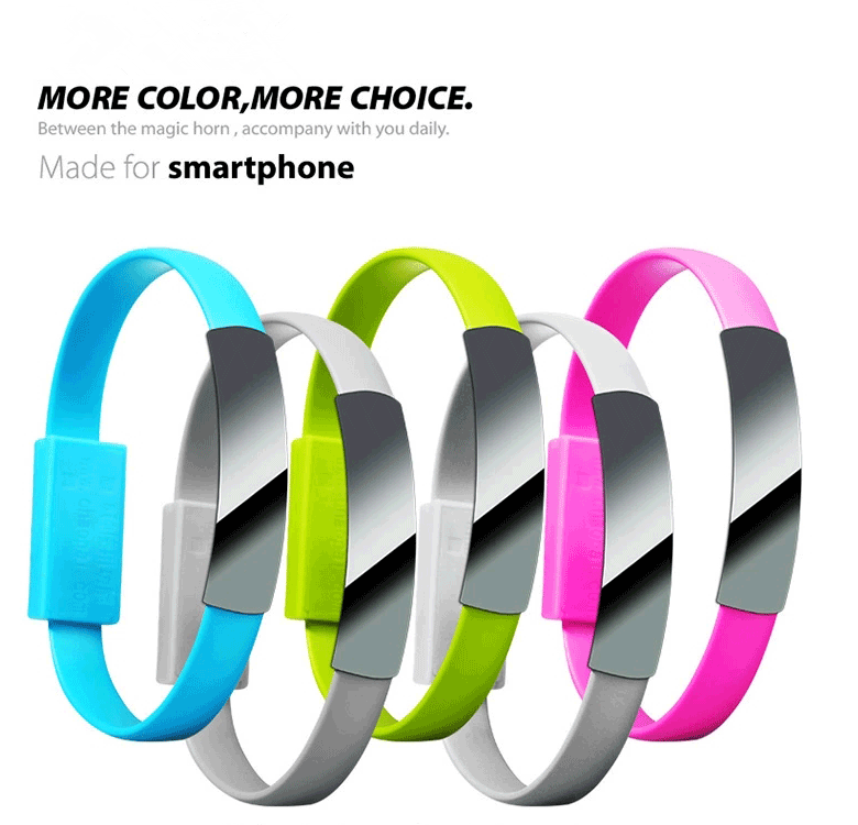 Wholesale Low Cost Bracelet Wrist Data USB Sync Charging <strong>Cable</strong>, Micro Charging USB <strong>Cable</strong> for Samsung