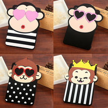 Rubber Silicone Cute Monkey Carton Tablet Covers Cases for ipad Shockproof Tablet Case