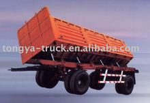 2axles Side Dump Trailer Tipping trailer