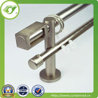 bay window bending metal curtain rods