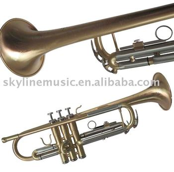 High grade satin finish Bb trumpet