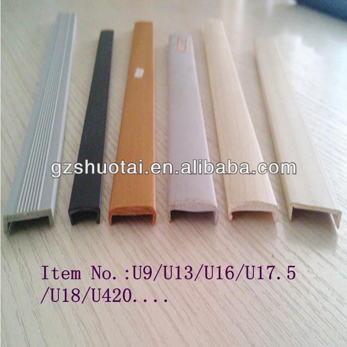 u sahpe edge banding pvc u profile u molding profile buy u shape edge banding u shape edge. Black Bedroom Furniture Sets. Home Design Ideas
