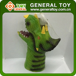 22*10*29cm Rubber Hand Puppets Dinosaur Hand Puppet For Sale