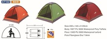 1-2 person waterproof colourful folding beach tent camping tent
