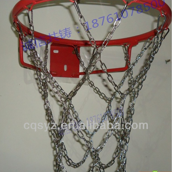 stainless steel basketball nets metal basketball net steel basket ball net