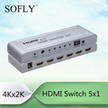 SFX 2017 4K HDMI Switcher 5 in 1 out , HDCP Passthrough HDMI2.0 HDCP2.2