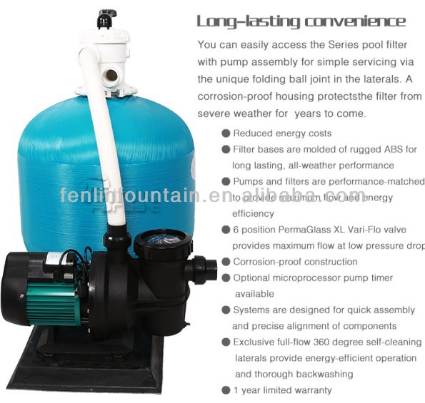 400 Diameter Swimming Pool Sand Filter and 0.5HP Water Pump