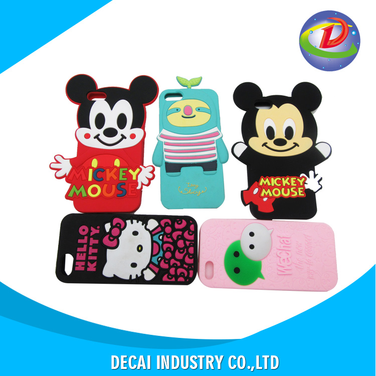 Favorable price new design your own 3d cute animal silicone cell phone case , silicone phone case