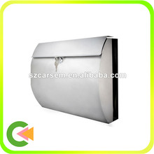 Hotselling stainless steel letter mailbox with newspaper holder