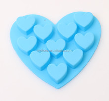cake mould heart shape chocolate mold 6pcs silicone cake tools ice cube tray