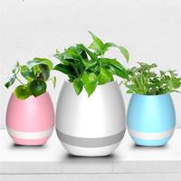 Cheap Bluetooth Touch Music Flower Pot Wholesale Plastic Smart Led Music Flower Pot