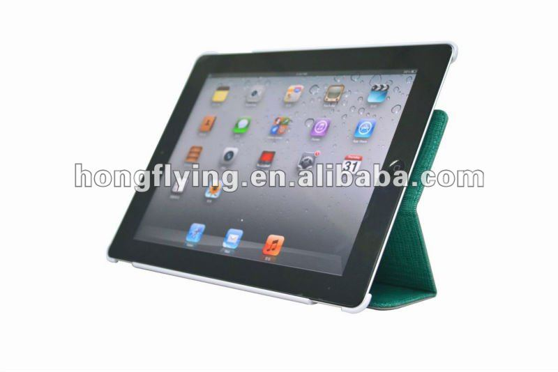 360 degree Rotating Magnetic Smart PU Leather Cover Case With Swivel Stand for ipad 2 case