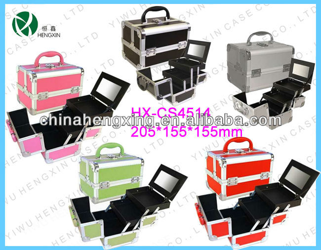 hard case cosmetic bag & make-up bag,make up train case,travel cosmetic suitcase HX-CS4514