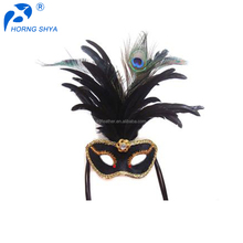 China Trading Feather Crafts Product Wholesale Best Quality Feather Mask For Mardi Gras