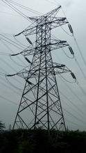 Electric transmission line tower angular lattice power steel tower