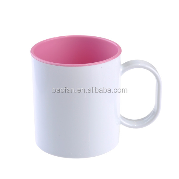 11oz sublimation plastic mug with Inner color