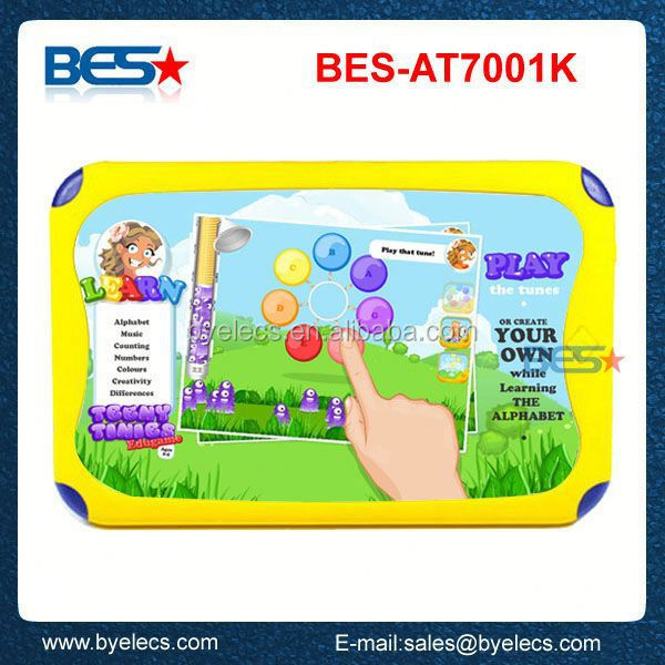 New 7 inch screen 800*480 kids dual core android student chair writing tablet