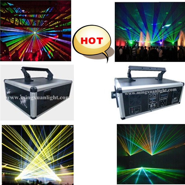 Hot!!! 10w rgb laser with beam animation