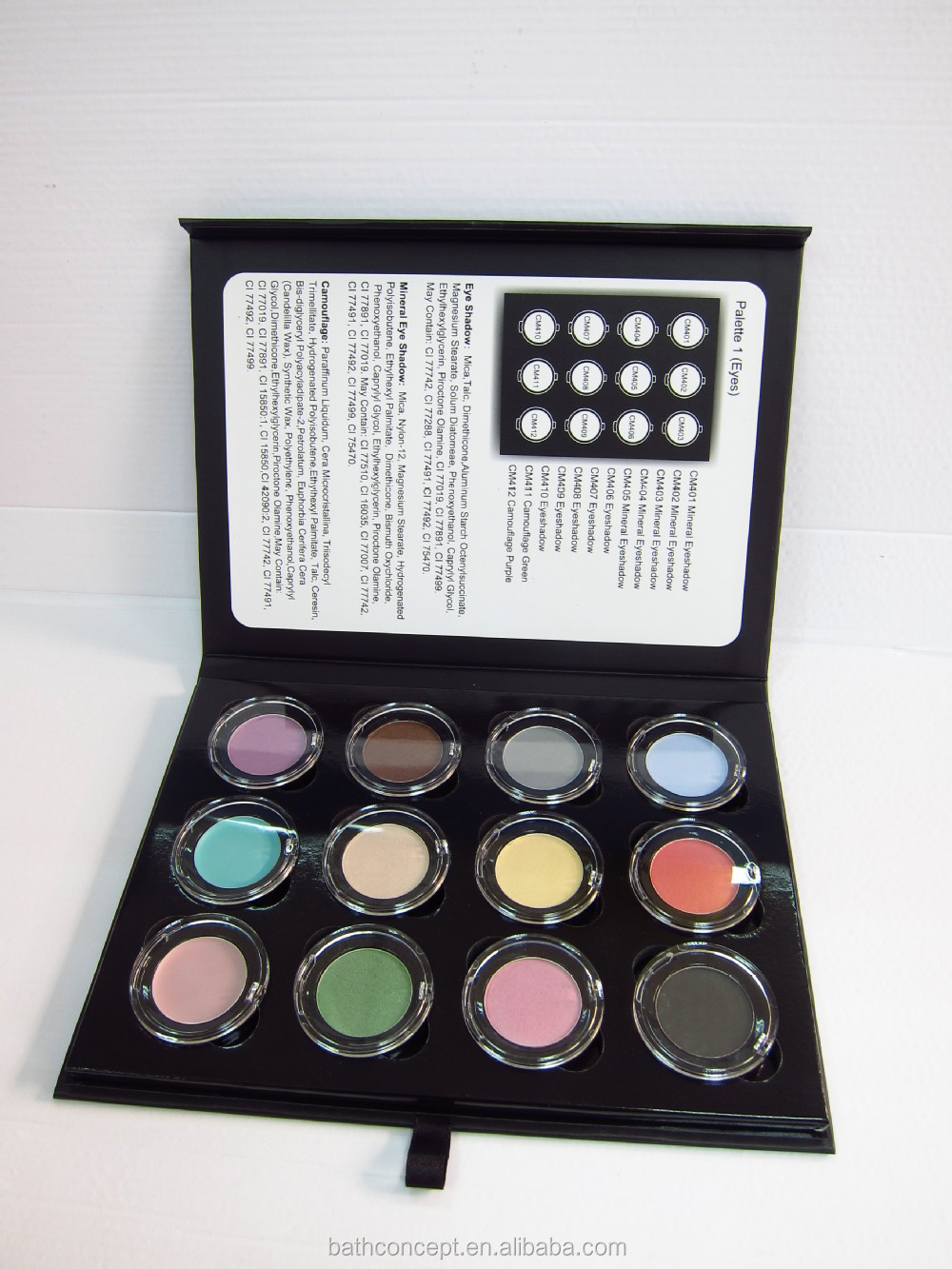 Mineral Ingredient eyeshadow private label cosmetics OEM