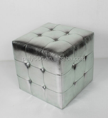 leather cubes with crystal/ leather seating cubes