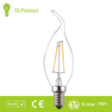 Flame Tip LED Candle C35 E12 4W 2200K 2700K Dimmable LED Edison Light Bulb