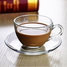 wholesale price food grade turkish coffee tea cup plate set glass tea cup sets